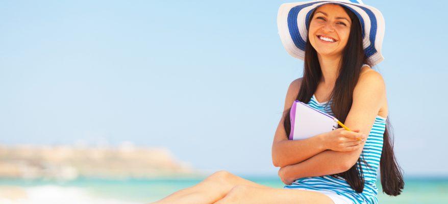 studiare in spiaggia benefici